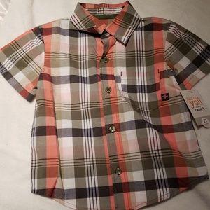 NWT - Boys plaid Shirt